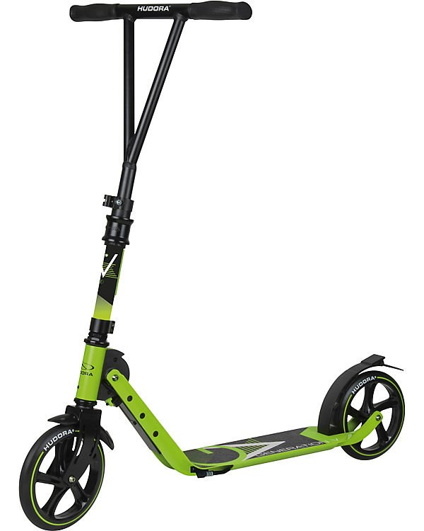 City Scooter Big Wheel Hudora V205 limegrün, faltbar, 205mm